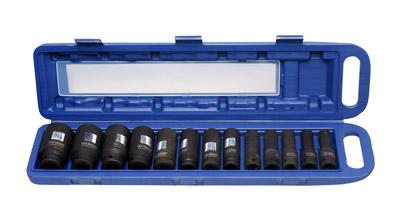 Hex Deep/Long Impact Socket Set 12.5mm (1/2) Drive